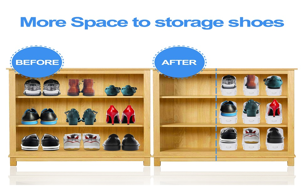 double your shoe storage space