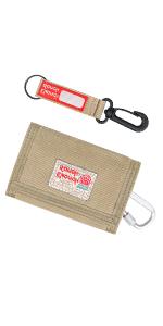 Rough Enough Khaki Canvas Front Pocket Wallet Holder Coin Purse Organizer Bag with Zipper Pocket Boy