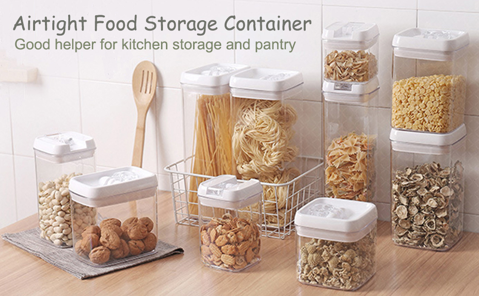 Cereal and Pasta Containers with Easy Lock Lids