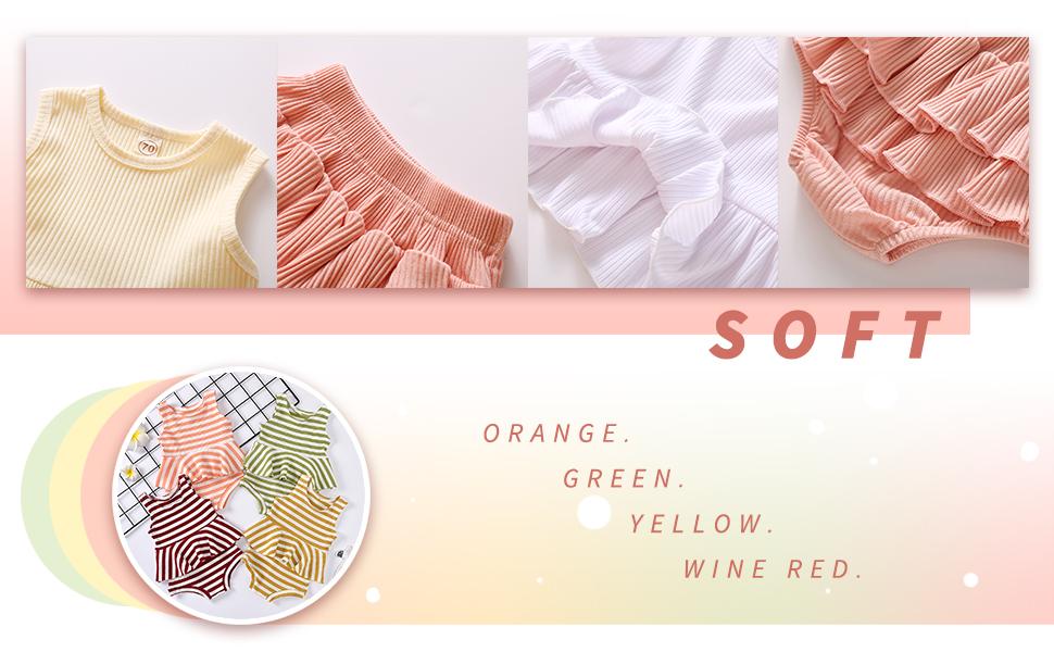 baby girl solid color short set