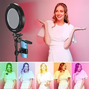 14 RGB Colors & 3 Normal Colors Ring Light