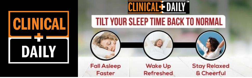 clinical daily melatonin sleep supplement gummies 5 mg helps reduce sleepiness boost energy