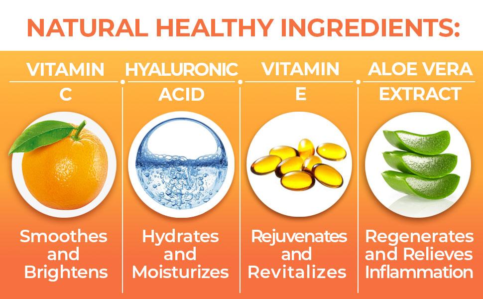 natural healthy ingredients of vitamin c