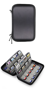 nintendo switch 3ds ds game card case holder