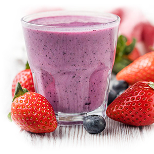 Chia Seeds And Blueberry Smoothie