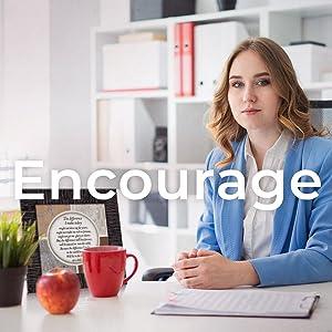 Encourage. Teacher gift. 4x4 on desk