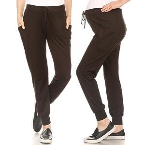 Shosho Womens Maternity Jogger Pants,Yoga Pants,Motherhood pants,fleece lined,mommy pants,sweats