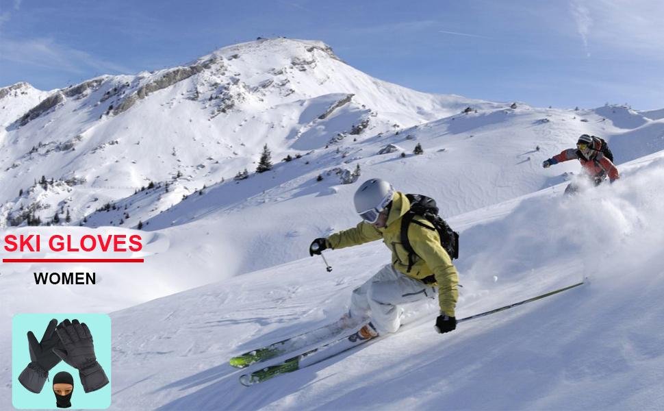 women ski gloves