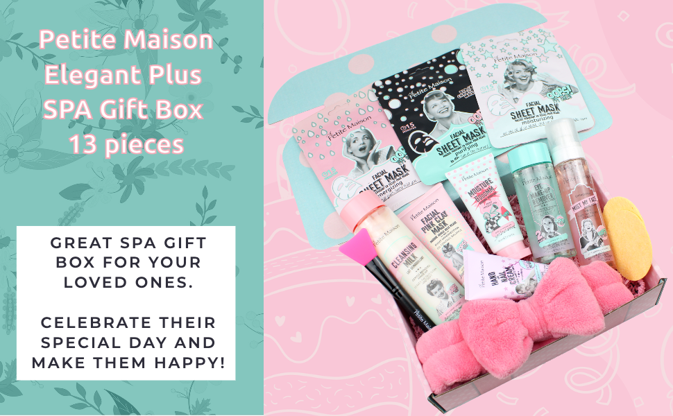 Petite Maison Elegant Plus spa gift box 13 pieces