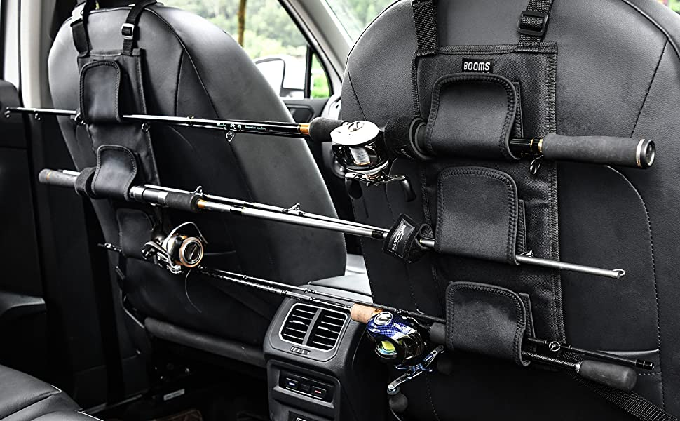Booms Fishing VBC Fishing Rod Carrier for Vehicle Backseat