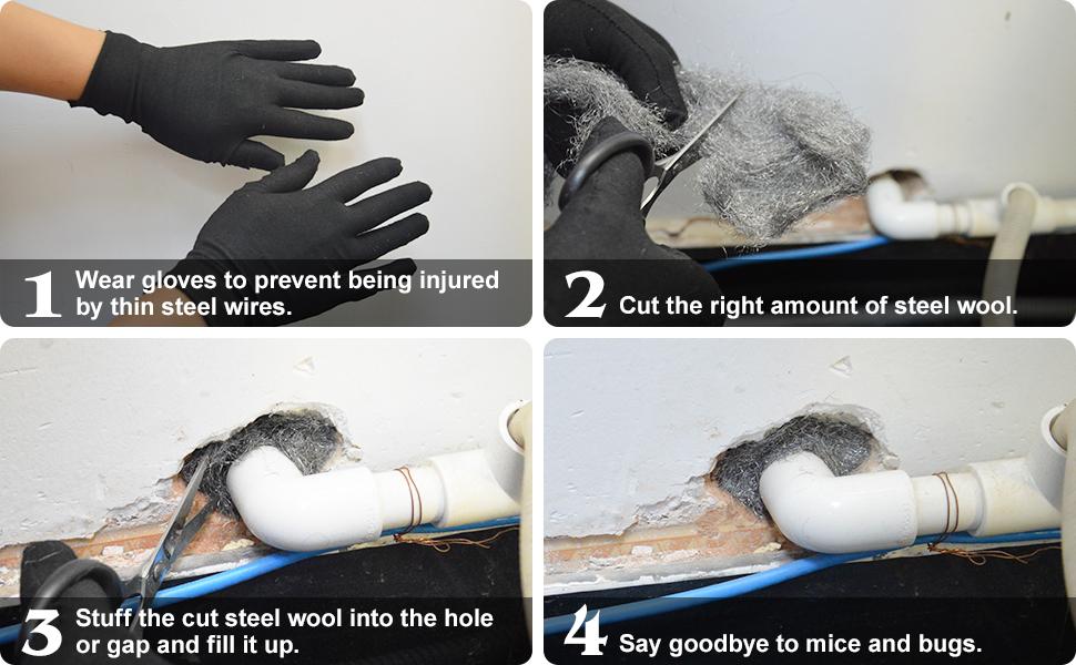 steel wool for holes