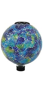azul terra LED solar light gazing globe