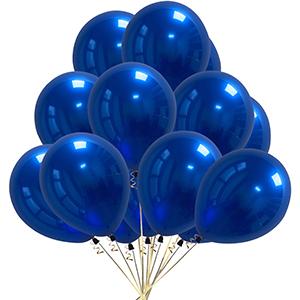Royal blue metallic balloons