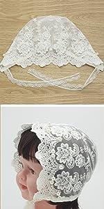 baptism dress for baby girl lace bonnet newborn white cap hat