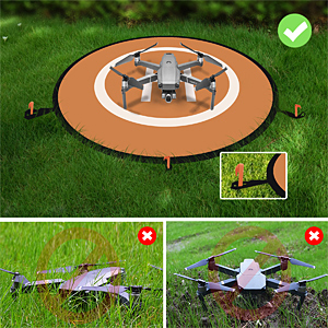 drone landing pad with night lights