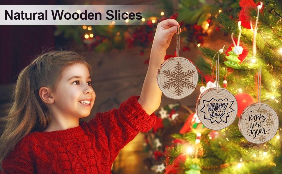 Christmas Wooden Slice