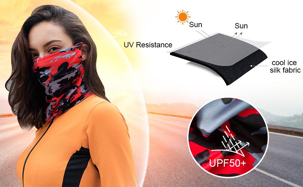 Cooling Neck Gaiter for Sun & UV Resistance