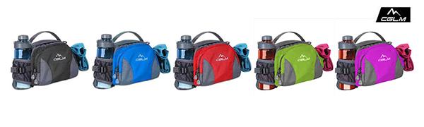 fanny pack for women men water bottle holder running belt hiking cycling dog walking black waist bag