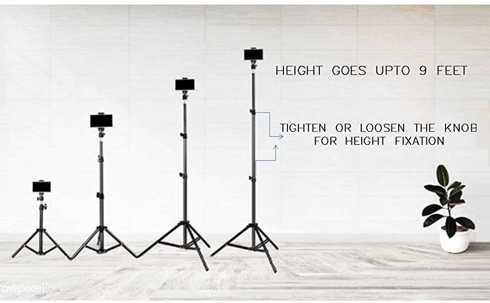 BIG HEIGHT CAMERA MOBILE PHONE TRIPOD SELFIE STAND ONLINE VIDEO CALL CLASS STREAM LIVE RECORDING PAN