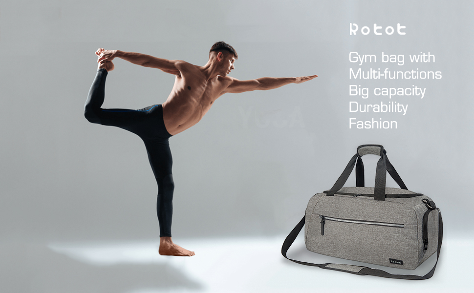 rotot dark gray gym bag