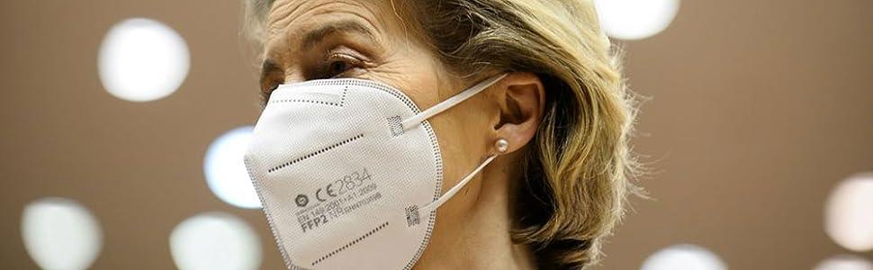 Auch die EU Kommissionspräsidentin Ursula von der Leyen vertraut auf unsere Masken