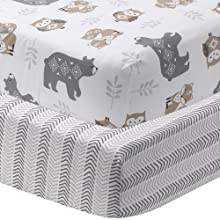 2 fitted crib sheets