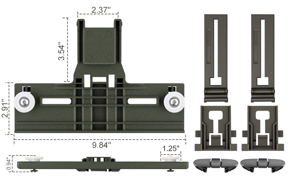W10350375 Rack Adjusters 2 x W10195840 Dishwasher Positioners W10195839 Rack Adjusters