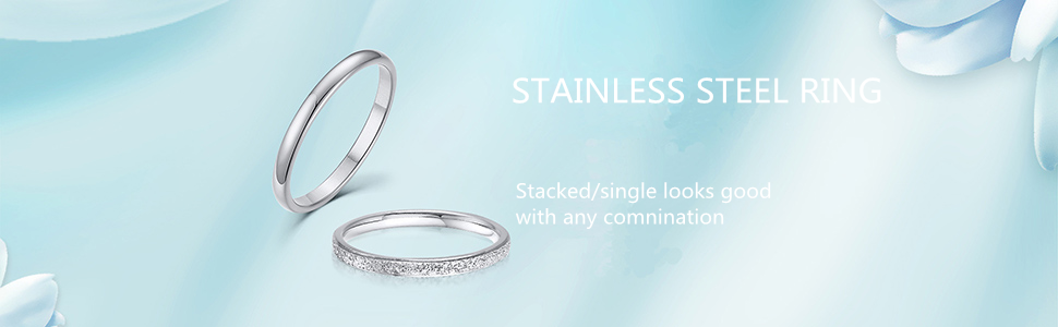 stackable wedding rings for women men girls