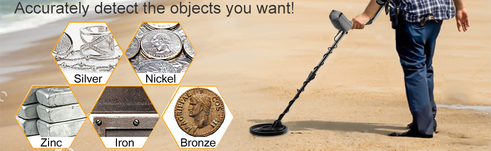 UNIROI Detector de Metales, 2 Modos de Busca, Pantalla LCD, Modo ...