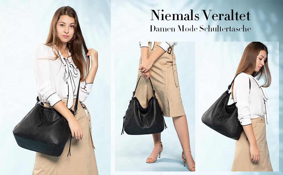 tasche schwarz damen handtasche schwarz hobo gross handtasche
