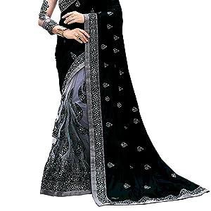 black saree garey