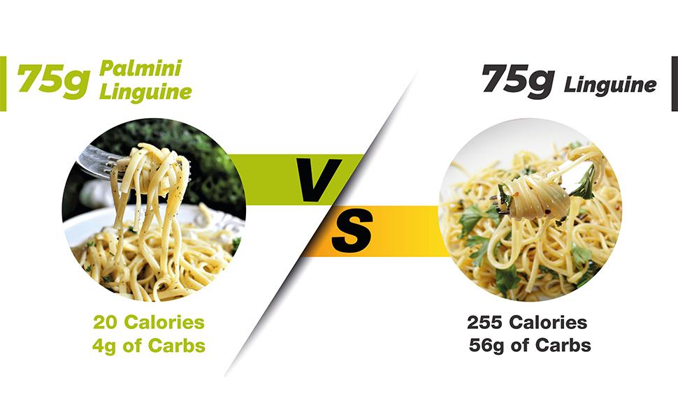 palmini pasta, palmini, linguine, low carb pasta