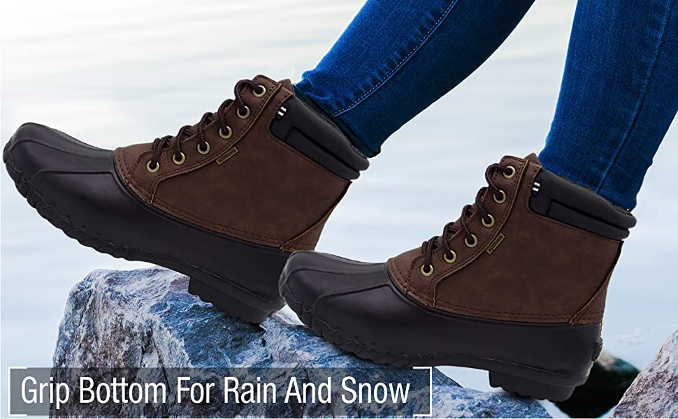 mens boots insulated strong chukka uggs boys snow winter leather oxford Waterproof Ankle Boot snow