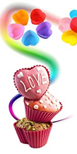 Cupcake Baking Cups Muffin silicone cupcake mold  Cupcake Decorating Pen Liners silicone cupcake