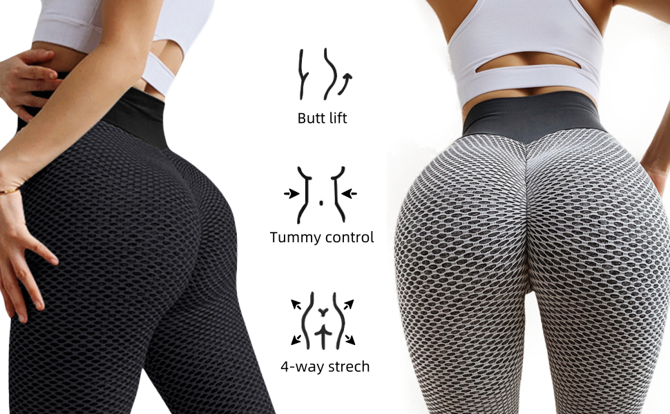 HEYIYI Butt Lifting Yoga Shorts for Women High Waisted Tummy Control Running Tights