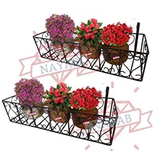 holder wall mounted home balcony indoor outdoor Garden fence coir large Vertical Hook