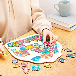 wooden animal puzzle, animal puzzles for toddlers, animal puzzle, chunky puzzles, wooden puzzle