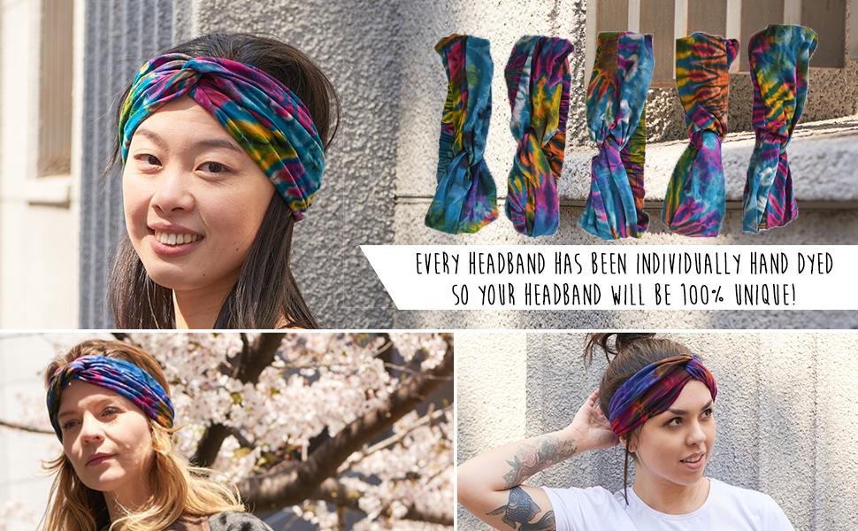 Details about  /DI Women Twist Knotted Tie-Dye Headband Hairband Headwear Hair Accessory Sa IC