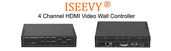 ISEEVY 4 channel Video wall controller 2x2