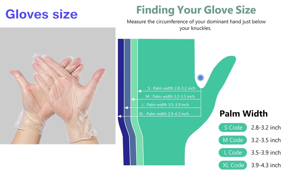 100pcs disposible pvc gloves