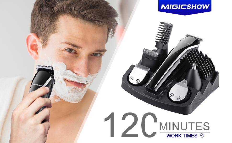 Amazon.com: Beard Trimmer For Men, MIGICSHOW Cordless Hair Trimmer ...