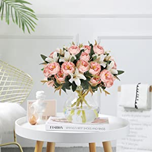 fake flowers table centerpiece for room decor