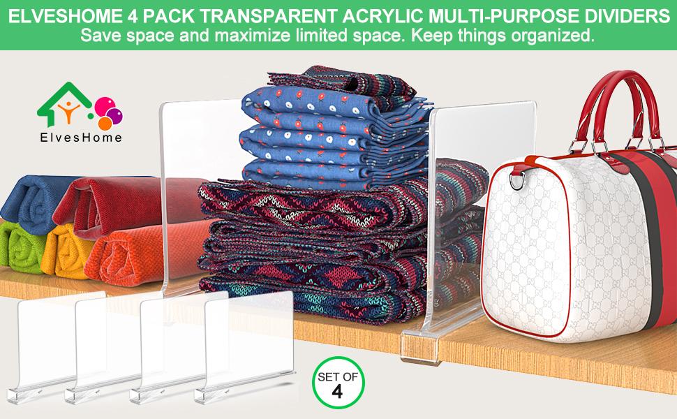 4 PACK ACRYLIC MULTI-PURPOSE DIVIDERS