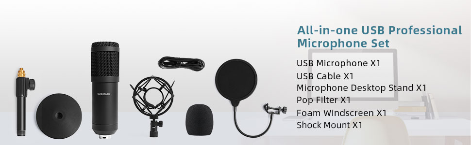 all in one usb microphone set