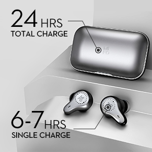 безжични слушалки mifo O7 с калъф за зареждане безжичен за спортна батерия дълго време за игра 7 часа