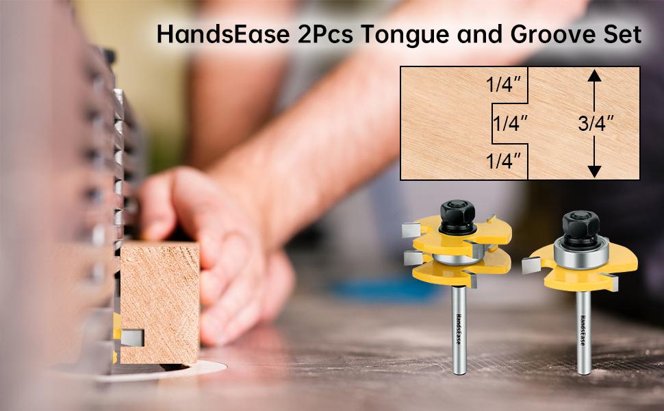 2Pcs Tongue and Groove Set