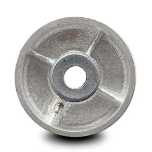 Service Caster, semi-steel cast iron wheel