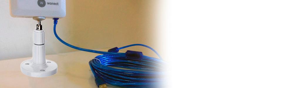 Antena WiFi Wonect N89A-2 USB Largo Alcance Cable Exterior Longitud (n89a-2 10m)