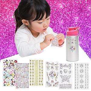 water bottle for kids bpa free water bottle craft kit for girls gifts for girls gifts for kids