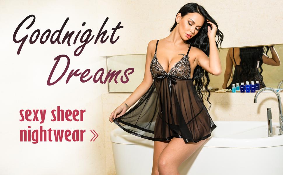 Sexy sheer nightwear